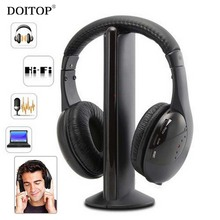 DOITOP 5 IN 1 Hi-Fi Wireless Headphones Wireless Net Chat Wired Headphone HIFI Music Monitoring FM Radio Headband Headset O5(China)