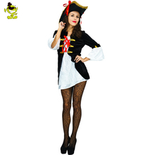 New Sexy Pirate Woman Costume Ladies Halloween Fancy Dress Cosplay Costumes Girl Dress In Carnivals(China)