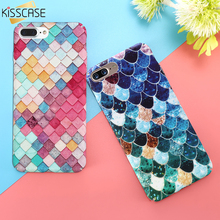 KISSCASE Pink Cute 3D Colorful Fish Scales Case For iPhone 6 7 Case 6S Plus Case Hard Back Cover Coque For iPhone 6 7 6S 5 5S SE