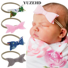 Wholesale 40pcs Christmas Hair Accessories Newborn Nylon Headband Girls hair bows Nylon Headbands Newborns Shower gift(China)