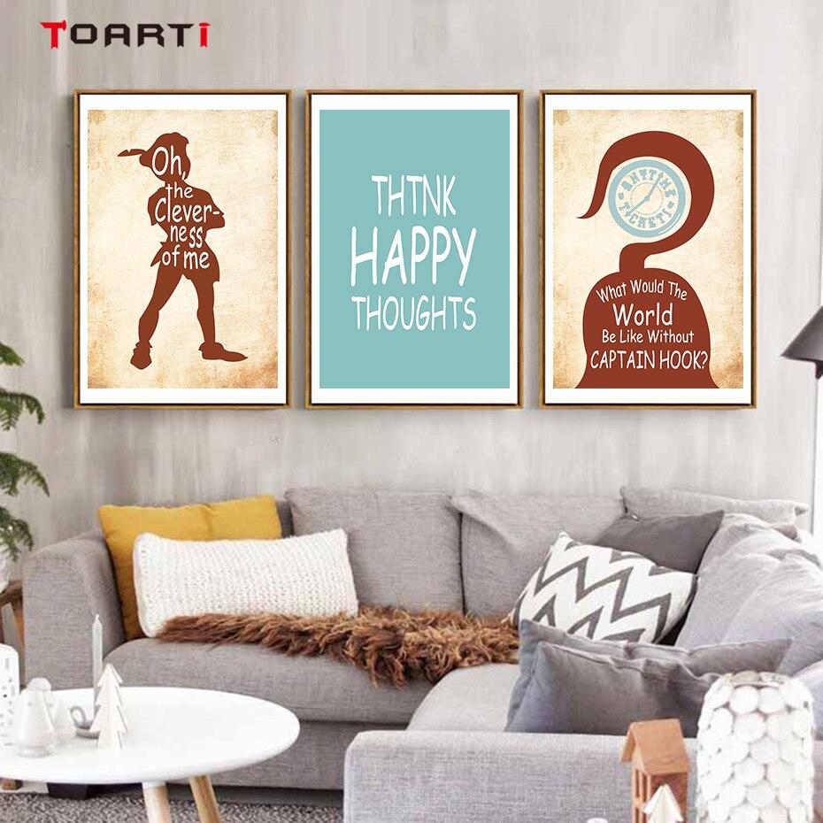 Peter Pan Tinkerbell Captain Hook Kids Childrens Wall art Stickers Decal Vinyl