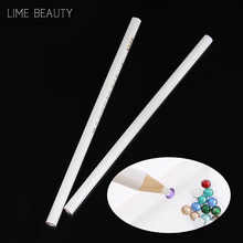 Limebeauty 2pcs Professional Wax Dotting Pen Nail Art Rhinestones Gems Picking Crystal Tools Pencil Pen Easily Pick Up Pen DJ15