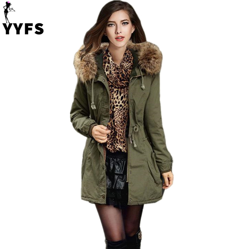 Parkas Women Coats Fashion Autumn Warm Winter Jackets Women Fur Collar Long Parka Plus Size Hoodies Casual Cotton Outwear HotÎäåæäà è àêñåññóàðû<br><br>