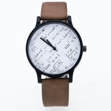 Fashion Mathematical Functions Watches Women Men Quartz Watch Montre Femme Leather Band Clock Wholesale relogio feminino