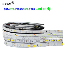 SXZM DC12V Led tape 3014/2835/5050/5630 Flexible led strip light Not waterproof indoor decoration Not waterproof warm white/RGB(China)