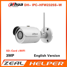 Dahua English version  IPC-HFW2325S-W replace IPC-HFW1320S-W 3MP IP67 built-in SD Card slot outdoor camera wifi