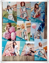 TWICE autographed PAGE TWO signed original photo 9 photos set PINK version4*6 inches collection freeshipping 06.2016(China)
