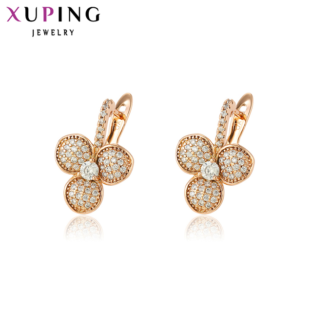 11 Deals Xuping Fashion Earrings Top High Quality European Style Charm Design Gold Color Plated