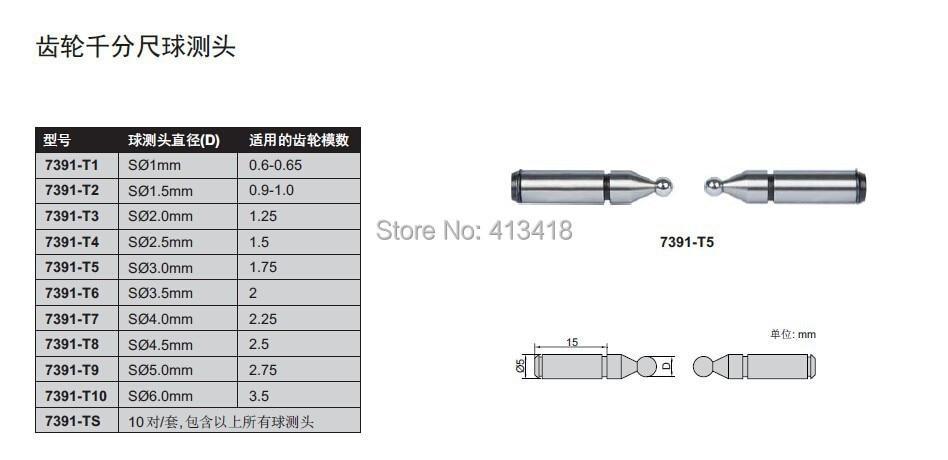 Quality goods Gear Micrometers measuring head.diameter 1.5mm<br><br>Aliexpress