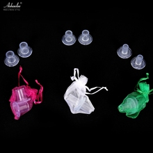 25 Pairs / lot High Heel Protectors Latin Stiletto Dancing Covers Heel Stoppers Antislip Silicone High Heeler For Wedding Favor
