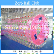 Free Shipping TPU Material Inflatable Hamster Wheel,Water Roller For Summer,Running Roller For Water Games(China)