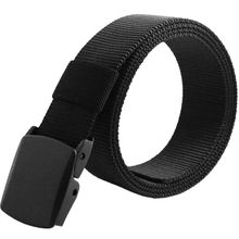 Simple Men's Sports Military Tactical Nylon Waistband Canvas Web Belt Casual Solid Belt