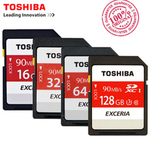 Toshiba SD Memory Card UHS U3 128Gb 90MBs 600x 32GB SDHC Card SD 64GB SDXC Card Flash 16G U1 For Digital SLR Camera Camcorder DV(China)