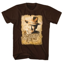 John Wayne American Legend Cowboy Licensed Adult Shirt S-XXL