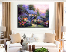 Thomas Kinkade oil painting reproduction Pastoral landscape giclee prints on canvas customrize wholesale dropping is welcomed(China)