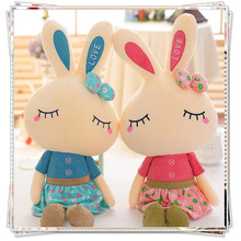 Rabbit soft toys kids toys kawaii plush  ty plush animals spongebob fluffy bunny  stuffed animals dolls valentine day gifts