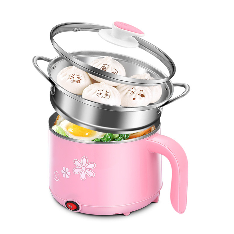 Blue Pink Beautiful Colorful Household Electric Pot Cooking Skillet Kitchen Tool Hot Pot Steamer Boil Anti-Burn<br>