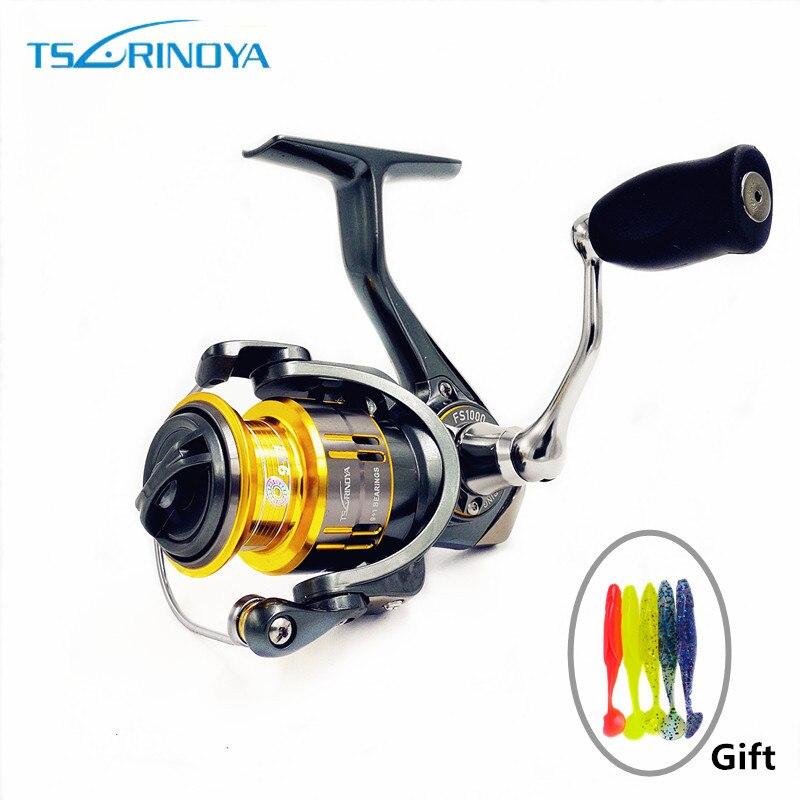 Tsurinoya FS800/1000/2000/3000 Ultra Light Spool Saltwater Fishing Spinning Reel Ratio 5.2:1 Surfing Carp Spinning Fishing Reel <br>