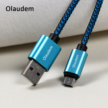 Olaudem Phone Cables Nylon Braided Cable USB Micro USB Samsung Micro USB Cable Fast Charging Android Wire Charging CB046