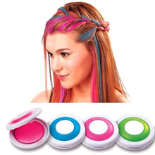 Fashion 4 Colors Hair Dye Powder Temporary Hair Styling Hair Coloring Powder Tool  Easy To Clean Hair Supplies