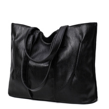 2017 New Simple style Soft Leather Shoulder Bag Fashion Women Designer Large Capacity Handbags Female High Quality Big Bags(China)
