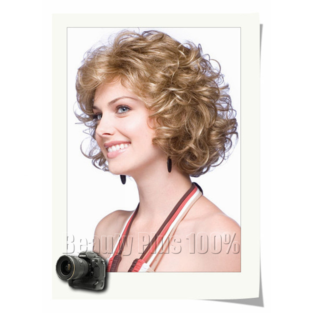 High Quality Short wig  Synthetic hair wig  Brazilian Natural Wave Blonde Wig Cosplay<br><br>Aliexpress