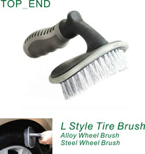 Free Shipping,1pc,Universal TPR Handle Tire Cleaning Brush,Wheel Brush/Washing,Blue+Black Brushing,High Quality,For Car,Scooter(China)