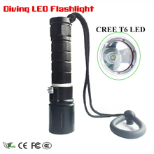 New T6 LED 2000LM Diving LED Flashlight 4-Mode Pool Flashlight 18650 Torch Light Waterproof for Camping Fishing Diving