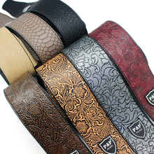 Stringed Instrument Guitar Strap  leather for Electric Acoustic Guitar and Bass Strap soft PU Leather Guitar Parts & Accessorie