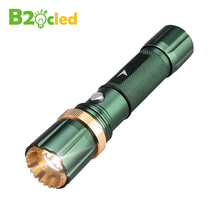 Zoom LED flashlight LED 6000LM Cree Q5 flash light 3 mode Zoomable Focus Torch light for 18650 rechargeable battery or 3*AAA(China)
