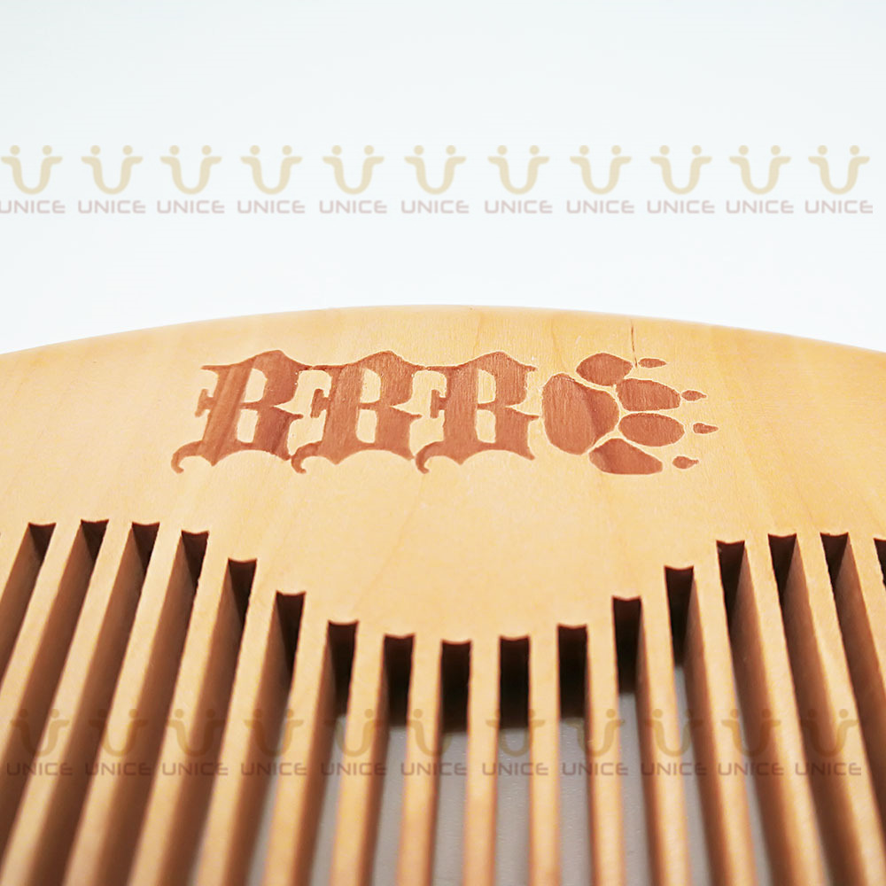 100pcs/lot Your LOGO Customized Private Label Combs Hair Beard Wood Comb for Men & Women for Barber Shop Retail Case 45