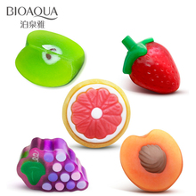 2017 Bioaqua Moisturizing Essential Oils Soap Gift Fruit Bath & Shower Body Face Skin Bleach Clean Pores Removal Blackheads(China)