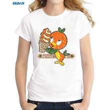 GILDAN T shirt Women Lovely Florida Orange Bird Shirt Good Quality Comfortable Breathable T-Shirts(China)