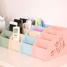 Perfect for hold Remote Contol Cellphone Griceries Multifunctional Plastic Multi-Cell Desktop Storage box drop shipping #XG30(China)