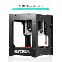 Meterk 1500mW Mini DIY Laser Engraving Machine router laser cutter Wireless USB Laser Engraver Box Automatic Off-line with glass(China)