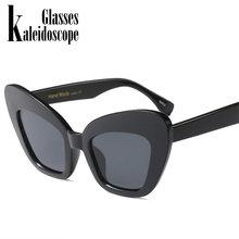Caleidoscópio Óculos Mulheres Borboleta Grande Quadro Óculos De Sol Retro  Leopardo Cor de Rosa Preto Vermelho Do Vintage óculos . c610907ba0