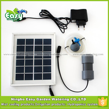 (with plug)2W Solar Energy air pump 2L/MIN for hydroponics system.Go fishing, Aluminum alloy frame,Free shipping