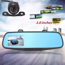 3.8 Inch 1080P HD 140 Angle Night Vision Car Rear View Mirror Camera Dash Cam Video Recorder Reverse Backup Camera