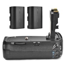 Meike MK-70D Vertical  Battery Grip Handy Pack for Canon EOS 70D 80D Camera BG-E14 DSLR + 2x Rechargeable Battery as LP-E6