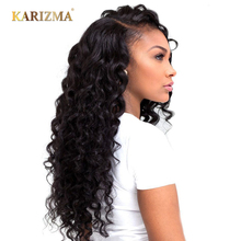Karizma Brazilian Loose Deep 100% Human Hair Extensions 8-24inch Non Remy Hair Weave Bundles 1Piece Free Shipping(China)