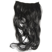 World Pride Gorgeous Long Curly Clip-on Hair Extension Wigs - Black Levert Dropship Y627