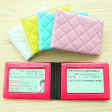 Card holder Pvc leather bag lovely ladies diamond  driver's license  folder documents folder card packages  IC card