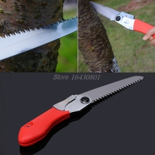 Mini Portable Folding Tool Hacksaws Tree Pruning Garden gardening hand saw Sharp Camping Steels Wooding Trimming Work Tool S08(China)