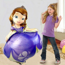 JF Large 40 inch Sofia Princess Foil Balloons Happy Birthday Helium Balloon princesa sofia festa decoracao Kids Inflatable Toys(China)