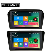 SINOSMART 9'' Support 4G RAM 2G/1G Android 5.1 Car GPS Navigation Player for Volkswagen Jetta/Santana 2013-2015 Canbus Optional