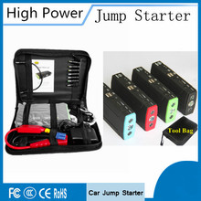 Multifunction Emergency Tool Car Jump Starter Booster Pack Charger 12v with LED Flashlight SOS Light, Portable Laptop Power Bank