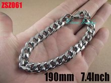 Wholesale - 10mm fashion stainless steel bracelet 190mm 7.4Inch man Jewelry Brace lace bangle chains ZSZ061