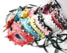 Wholesale Price 10 pc/lot Halloween Masquerade half face mask Venetian mask powder princess dimensional butterfly mask