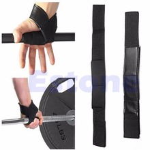2pcs Black Wrist Support Gloves Wrap Hand Bar Straps For Weight Lifting Training Gym