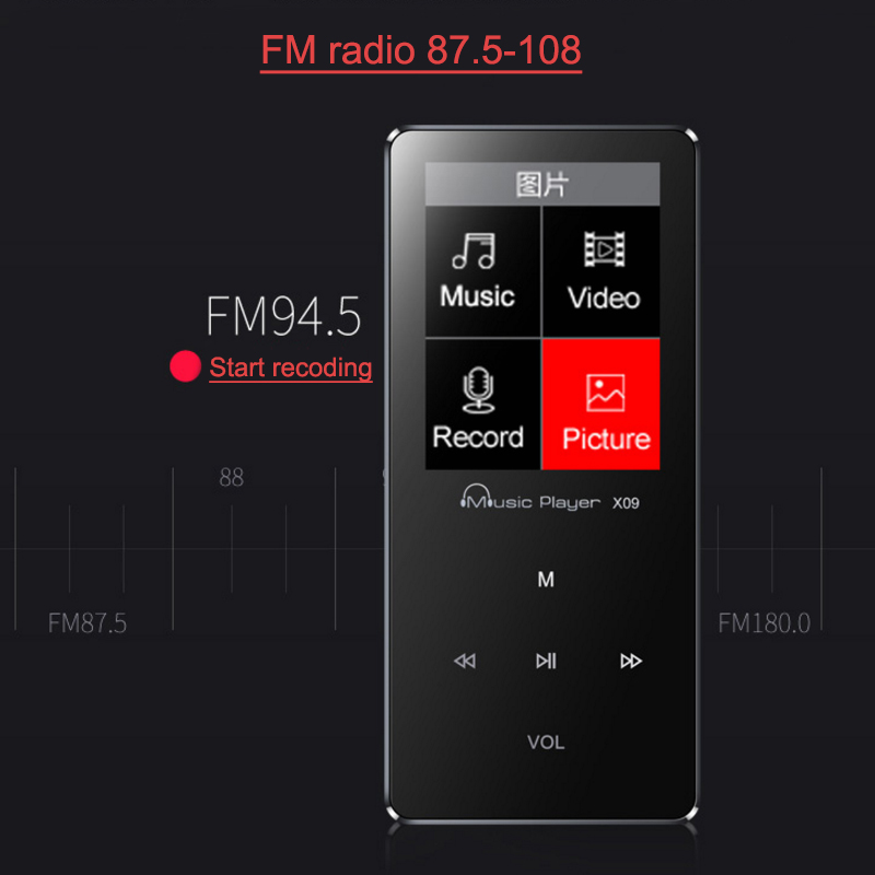 MP3 Player 2017 Newest IQQ X09 1.8 With Built-in Speaker Music Sport Players Supports Voice Recorder FM Radio  E-Book Reading (5)